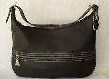 Fontanelli Black Pebble Italian Leather Hobo Satchel 15 X 11 x  Shoulder NWT