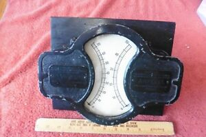 WESTON ELECTRICAL METER Model R Volts & Amperes ANTIQUE AUTOMOBILE TESTER 20563