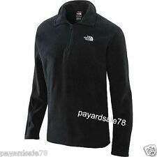 MEN'S THE NORTH FACE 1/4 ZIP FLEECE GLACIER JACKET BLACK PULLOVER SIZE XL NEW