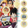 5pcs One Piece Anime Luffy Ace 20th Anniversary Commemorative Coin Set In Box