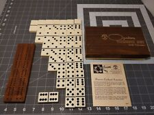 Vintage Pleasantime Games OPALENE Dominoes set - with wood counter.