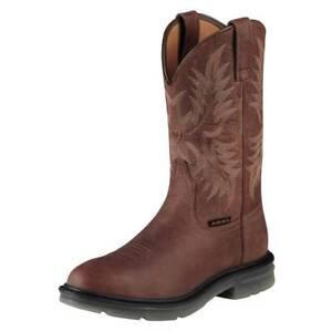 New Men's Ariat 10008650 Maverick ll Pull on Steel toe leather Boot