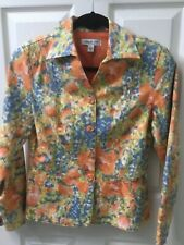 Coldwater Creek Women's Size 4 Peplum  Colorful Lined Jacket