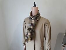 100% AUTHENTIC BURBERRY LONDON SCARF 100% LAMBSWOOL MADE ENGLAND UNISEX GREEN