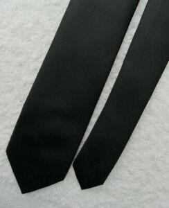 BLACK SKINNY SLIM 2.25 inch polyester necktie TIE by GEORGE