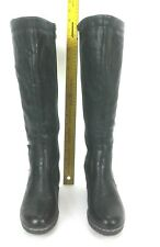 Patrizia Anderson by Spring Step Tall Shaft Boot Size US 8.5 Black Faux Leather