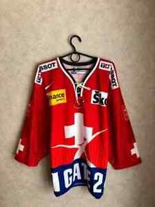 Switzerland Suisse National Team Hockey Rare Vintage jersey trikot