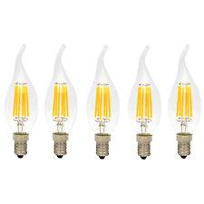 5er 6W Dimmbar C35 E14 LED Kerzenlampe Windstoß Filament Glühfaden Fadenlampe