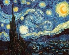 Starry Night by Vincent Van Gogh Poster Print Wall Art Home Decor