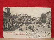 AK - Przemyśl - Plac na bramie i wieza / Thorplatz + Stadtuhr  gel. 1905 - Polen