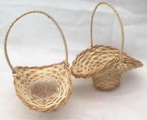 Wicker Wedding,Flowergirls,Posy,Favour Baskets. Size 3. Large Pack of 2