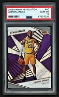2018 PANINI REVOLUTION LEBRON JAMES #40  LOS ANGELES LAKERS  **PSA 10 GEM MINT**