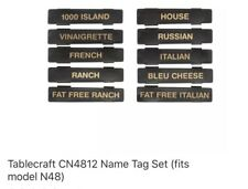 Tablecraft CN4812 Name Tag Set (fits model N48)
