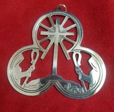 1972 Lunt Sterling Silver Ornament with Shepherds & Cross / Star