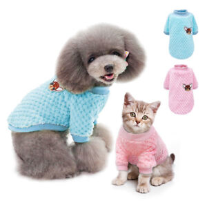 Soft Flush Cat Dog Jumper Sweater Winter Puppy Dog Cat Clothes Chihuahua Coat