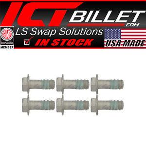 6pc Extended Length LS Flexplate Flywheel Adapter Bolts Set Kit LS1 LS3 LS2