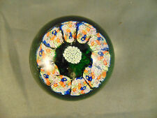 Antique Murano glass paperweight Millefiori made Italy one of a kind design art