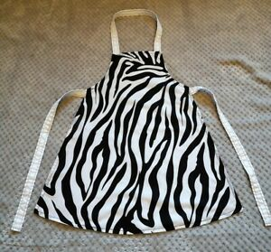 Handmade unique toddler apron ''zebra print'' 3-6 years approx