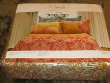 Brunelli Curry House King Duvet Cover and Two Shams 100% Sateen Cotton New