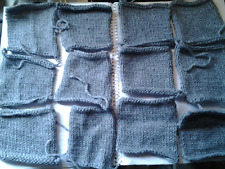 x12 10 cm approx size. Hand knitted squares Dark Grey