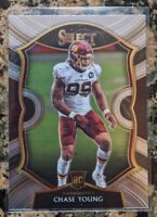 2020 Panini Select Chase Young Rookie 💥  Concourse Washington RC #64