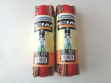 *NOS Vintage MICHELIN AXIAL Performance 700 x 20C red/amber wall clincher tyres*