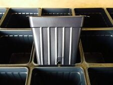 3 Inch Plastic Flower Nursery Plant Pots ( Qty 60 ) Fast Shipping!