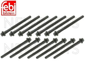 For Volvo S70 V70 S40 S60 S80 Set of 14 Cylinder Head Bolts Bilstein 6842347
