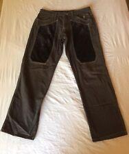 JECKERSON UOMO PANTALONI SZ 36/50 Dark Grey Velvet ITALIANO Pantaloni Casual Wear