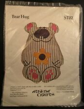 Vtg 70s Athena Crafts Bear Hug Crewel Needlework Stuffed Animal Teddy Kit NIP