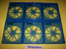Lot of 6 Single Blu Ray  DVD Disc Cases with LOGO Blu-Ray Bluray Blue