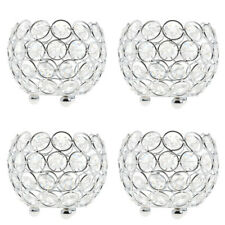 4x Crystal Candelabra Wedding Centerpiece 3'' Votive Tealight Candle Holders