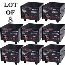 8 LOT) Pyramid PS3KX 3Amp 12Volt DC Power Supply for Phones CB HAM Radio Scanner