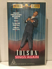 JOLSON SINGS AGAIN ~LARRY PARKS, BARBARA HALE, WILLIAM DEMAREST~AS NEW VHS VIDEO