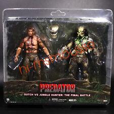 "NECA Predator Dutch vs Jungle Hunter Final Battle 7"" Action Figure 2 Pack Set"
