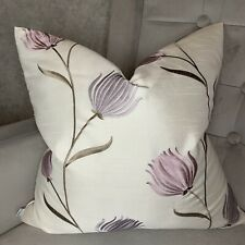 """Beautiful Cushion Cover 18""""x18"""" & iLiv Fabric ,Lavender &  Embroidered Flowers"""