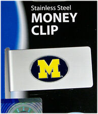 Michigan College Brushed Money Clip