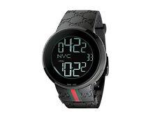 New Gucci I-Gucci 44mm Digital Rubber Strap Men's Watch YA114207