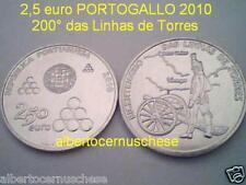 2,5 euro 2010 Portogallo Portugal 200 Linhas de Torres Португалия