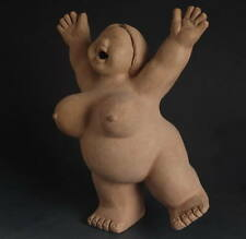 Chinese culture Modern Ethnic Style Statue: Earthenware Cheer big woman