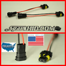 (2) H11 Male to 9006 9005 female Convert Pigtail Wire Harness Socket plug & play