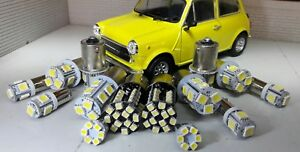 Classic Rover Austin Mini LED External Bulb Set Kit (No Headlights) Bright White