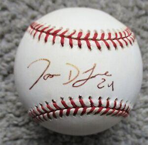 JASON LANE Signed Rawlings MLB Baseball - USC, HOUSTON ASTROS Outfielder