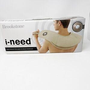 Brookstone Heated Neck & Shoulder Massager With Heat 3 Massage Program