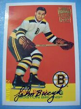 """01-02 Topps """"Archives"""" (# 17 Reprint) 57-58 Topps #10 Johnny Bucyk RC Autograph!"""
