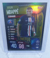 2020 Topps Match Attax Kylian Mbappe PARIS Foil Gold Limited Edition Card