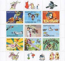 Tom et jerry powerpuff girls cartoon kirghizistan 2000 neuf sans charnière timbre sheetlet