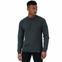 Mens Pretty Green Mens Clements Ls Crew Sweat in Grey Marl - XS