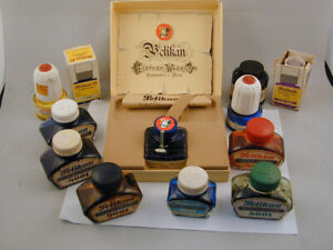 Pelikan 4001 Fountain Pen Ink Lot - Blue Red Black Green