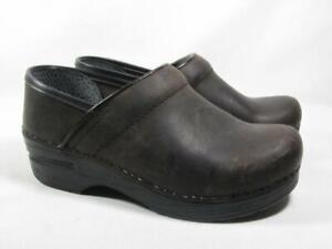 Dansko Professional Clog Women size 35 US 5 Brown Leather